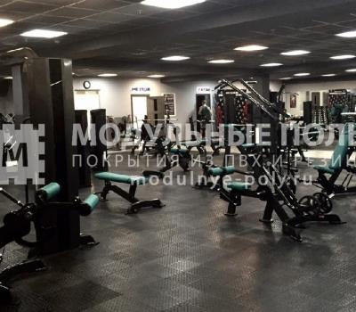 Зона свободных весов в тренажерном зале